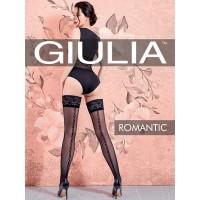 """ЧУЛКИ """"GIULIA"""" ROMANTIC, СИЛИКОНОВЫЕ ПОЛОСКИ, 20 DEN, РАЗМЕР 40-42"""